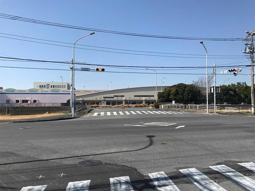 千葉市中央卸売市場の入り口